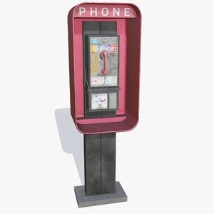 real old street payphone 3D model