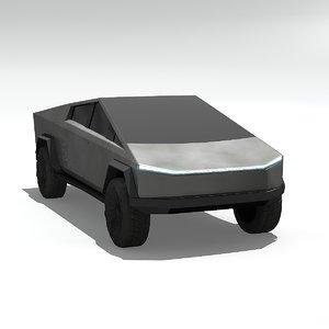 cybertruck cyber truck 3D model