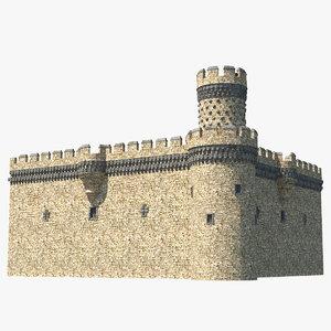 castle corner wall model