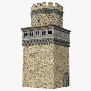 3D model medieval watchtower