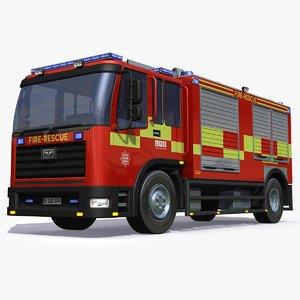 3D england uk firetruck