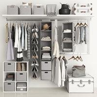 3D clothing wardrobe model