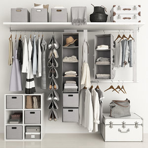 3D clothing wardrobe model