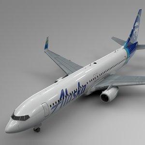3D alaska airlines boeing 737-800