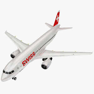 3D airbus swiss airlines model