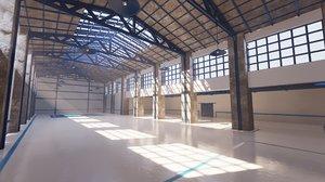 factory building scene environments 3D