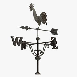 weather vane rooster 3D