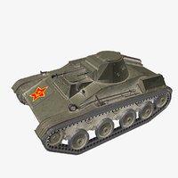 t-60 soviet light tank model