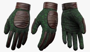 3D gloves sci fi model