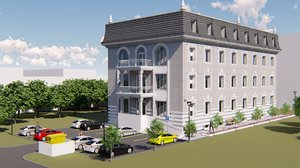 administrative office building 3D