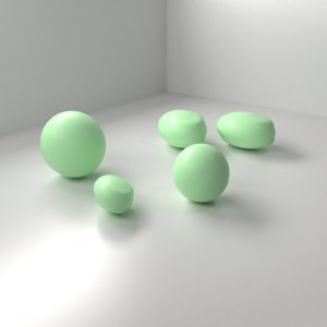 mint chocolate drop 3D