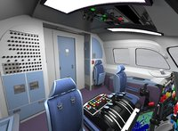 Airplane interior 3 in 1
