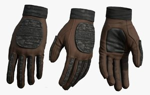 3D gloves fashion model