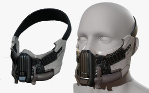 fashion mask 3D model