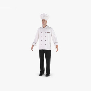 3D model chef cook person