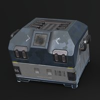 Sci-fi Loot Crate PBR Low-poly