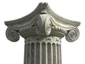 3D model ionic column