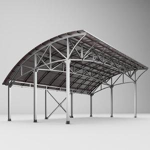 3D carport car metall
