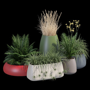 diabla gobi outdoor planter 3D model