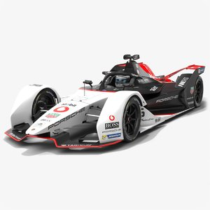 3D model porsche formula e team