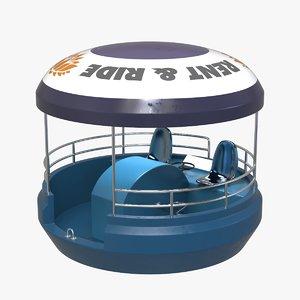 3D pedalo pedalboat model