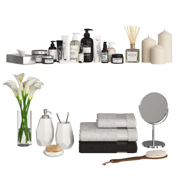 3D cosmetics decor bathroom