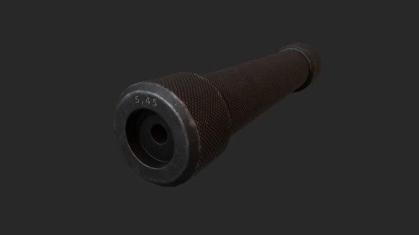 russian 5 suppressor 3D model