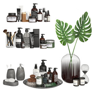 cosmetics decor bathroom dark 3D