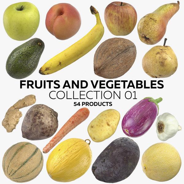 3D fruits vegetables 01 -