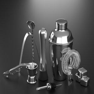 3D bar shaker sieve model
