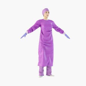 nurse surgeon 3D model
