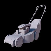 3D toon mower model