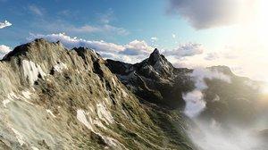 3D mattehorn mountain landscape model