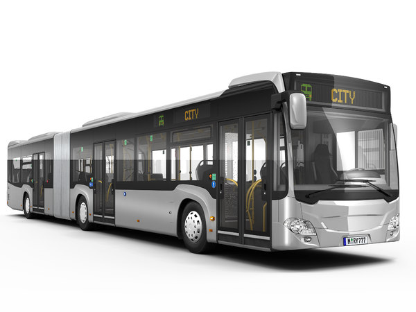 articulated city bus model