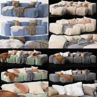 3D set 5 sofas bonaldo