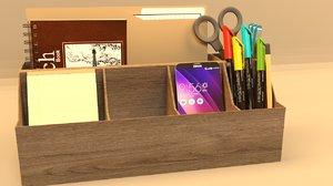 3D model desk storage