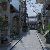 old japanese street model
