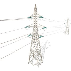 3D model electricity poles
