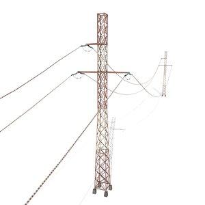 3D electricity poles model