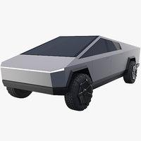 3D tesla cybertruck truck