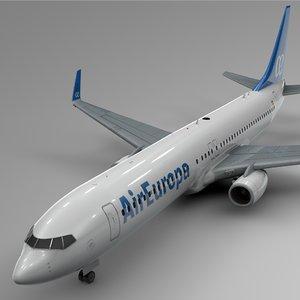 3D air europa boeing 737-800 model