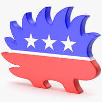 logo party 3D model