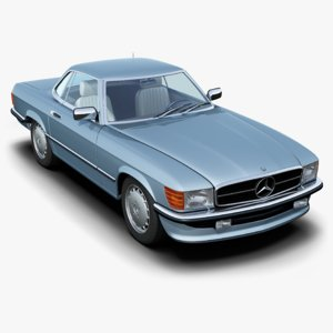 mercedes-benz 350sl coupé 3d model