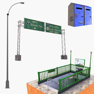 3D road objects sign 2 model