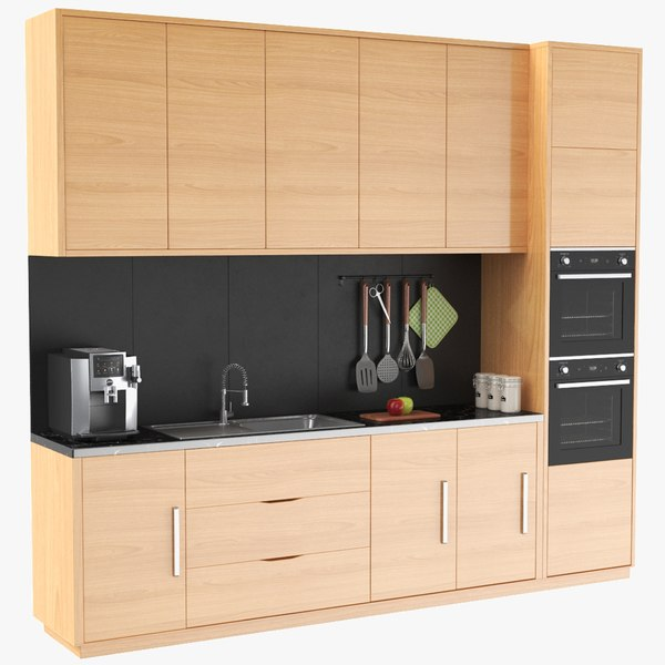real kitchen unit 3D model