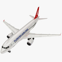 airbus turkish airlines a320 3D model
