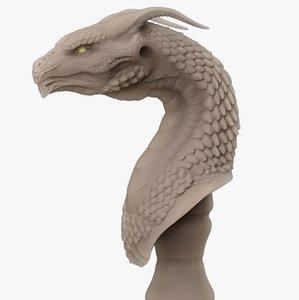3D dragon head concept 2019