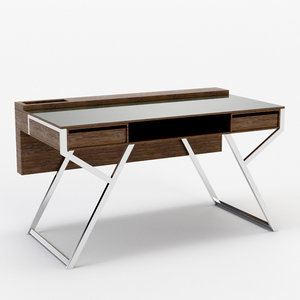 architectural visualization lui writing desk 3D model