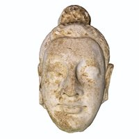 3D buddha heads statues s model