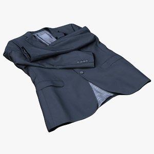 3D model mens suit jacket